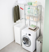 easy-build Over Washing Machine & Toilet Shelving Kit - Silver