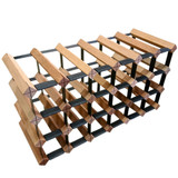 Wine Stash Timber Wine Rack 6x3 (24 Bottle) - Rustic