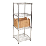 easy-build Square 5 Shelf Unit 120cm - Silver