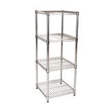 easy-build Square 5 Shelf Unit 120cm - Silver