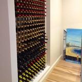 Wine Stash Timber Wine Rack 6x6 (42 Bottle) - Rustic