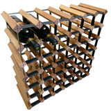 Wine Stash Timber Wine Rack 6x6 (42 Bottle) - Rustic