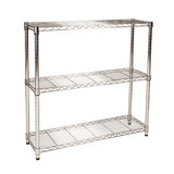 easy-build Slim 3 Shelf Unit 90cm - Silver