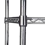 easy-build Slim 3 Shelf Unit 90cm - Silver