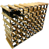 Wine Stash Timber Wine Rack 6x8 (54 Bottle) - Rustic