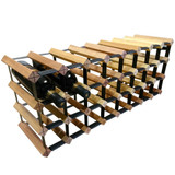 Wine Stash Timber Wine Rack 8x3 (32 Bottle) - Rustic
