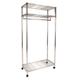 easy-build 3 Shelf Large Wardrobe Kit - Silver