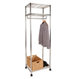 easy-build 3 Shelf Small Wardrobe Kit - Silver