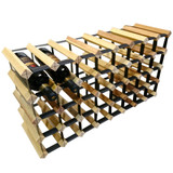 Wine Stash Timber Wine Rack 8x4 (40 Bottle) - Rustic