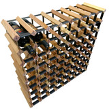 Wine Stash Timber Wine Rack 8x8 (72 Bottle) - Rustic