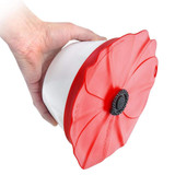 Poppy Lid Food Cover 15cm - Red