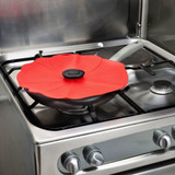 Poppy Lid Food Cover 33cm - Red