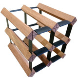 Wine Stash Timber Wine Rack 2x2 (6 Bottle) - Rustic