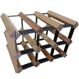 Wine Stash Timber Wine Rack 3x2 (9 Bottle) - Rustic