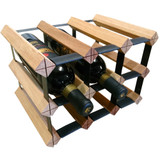 Wine Stash Timber Wine Rack 3x2 (9 Bottle) - Rustic