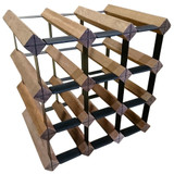 Wine Stash Timber Wine Rack 3x3 (12 Bottle) - Rustic