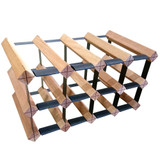 Wine Stash Timber Wine Rack 4x2 (12 Bottle) - Rustic