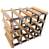 Wine Stash Timber Wine Rack 4x3 (16 Bottle) - Rustic