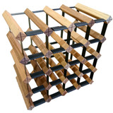 Wine Stash Timber Wine Rack 4x4 (20 Bottle) - Rustic