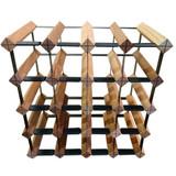 Wine Stash Timber Wine Rack 4x4 (20 Bottle) - Rustic