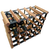 Wine Stash Timber Wine Rack 5x4 (24 Bottle) - Rustic