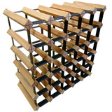 Wine Stash Timber Wine Rack 5x5 (30 Bottle) - Rustic