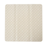 Non-Slip Shower Mat with Rubber Suction Cups - White