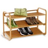3 Tier Bamboo Shoe Storage Rack - Natural