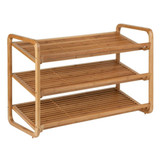 3 Tier Bamboo Shoe Storage Rack - Natural