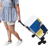 White Magic Handy Trolley with Climbing Wheels - Black
