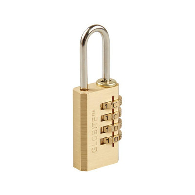 Solid Brass 4 Dial Combination Luggage Lock