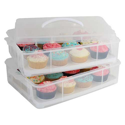 Stackable 24 Cupcake Carrier