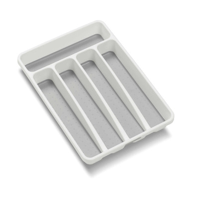 madesmart Mini 5 Compartment Cutlery Tray - White