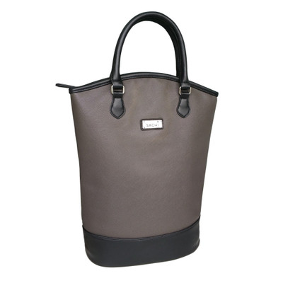 Sachi Two Bottle Insulated Wine Tote - Charcoal