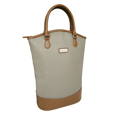 Sachi Two Bottle Insulated Wine Tote - Taupe