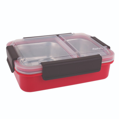 Oasis Stainless Steel 2-Compartment Lunch Box - Watermelon
