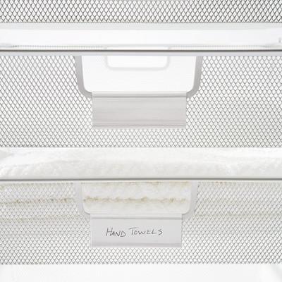elfa Clear Basket Labels - Pack of 4