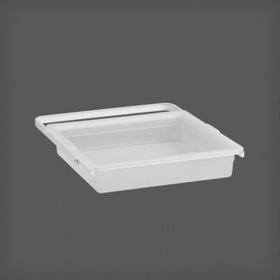 Elfa System 45 Gliding White Solid Plastic Drawer Bundle - 1 Runner