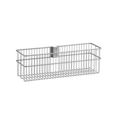 elfa Utility Door and Wall Rack Wire Basket Large - Platinum