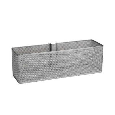elfa Utility Door and Wall Rack Mesh Basket Large - Platinum