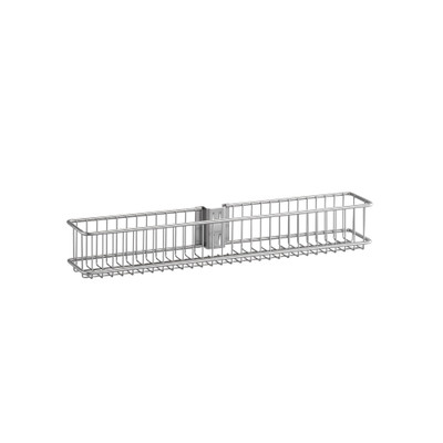 elfa Utility Door and Wall Rack Wire Basket Small - Platinum