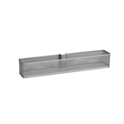 elfa Utility Door and Wall Rack Mesh Basket Small - Platinum