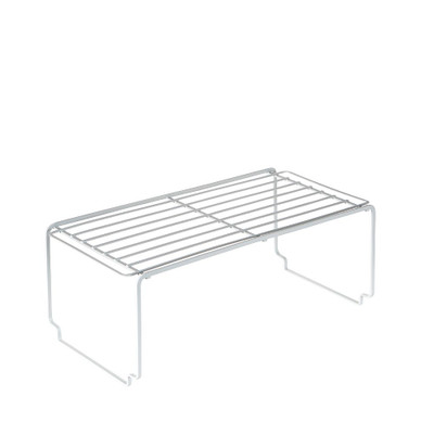 Howards Powder Coated Wire Stackable Cabinet Shelf Large - White
