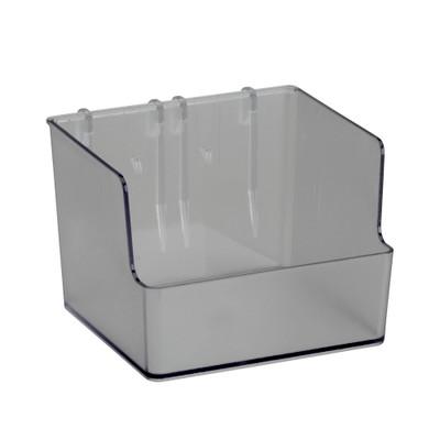 elfa Utility Pegboard Tall Box Clear