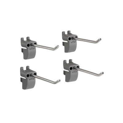 elfa Utility Pegboard Hook Long Tool 4-Pack - Grey