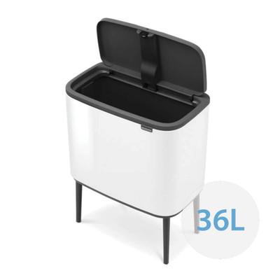brabantia Bo Touch Bin Regular 36L, 1 Inner Bucket - White