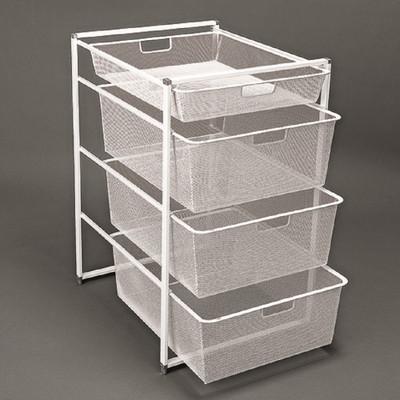 Elfa Basics White Mesh Drawer & Frame Set 74-45