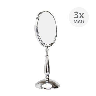 Double-Sided Pedestal Mirror 3x Magnification