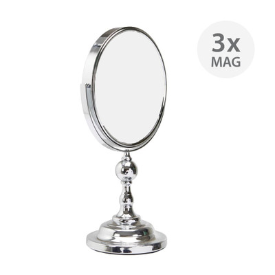 Double-Sided Pedestal Mirror 3x Magnification - Large