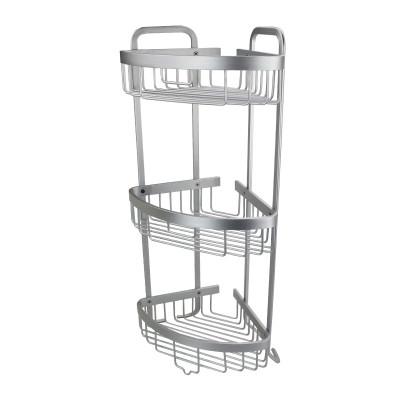 Aluminium Bathroom Corner Rack - 3 Tier